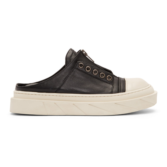 D BY D D By D Black And White Mule Sneakers in Black Wht
