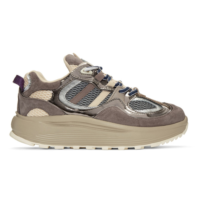 Eytys Grey & Beige Jet Turbo Sneakers