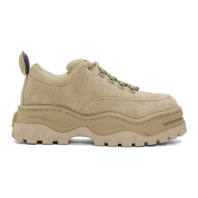 Eytys SSENSE Exclusive Tan Suede Angel Sneakers