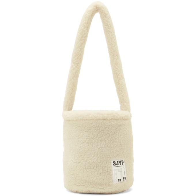 Sjyp Ivory Sherpa Bucket Bag in 003I Ivory