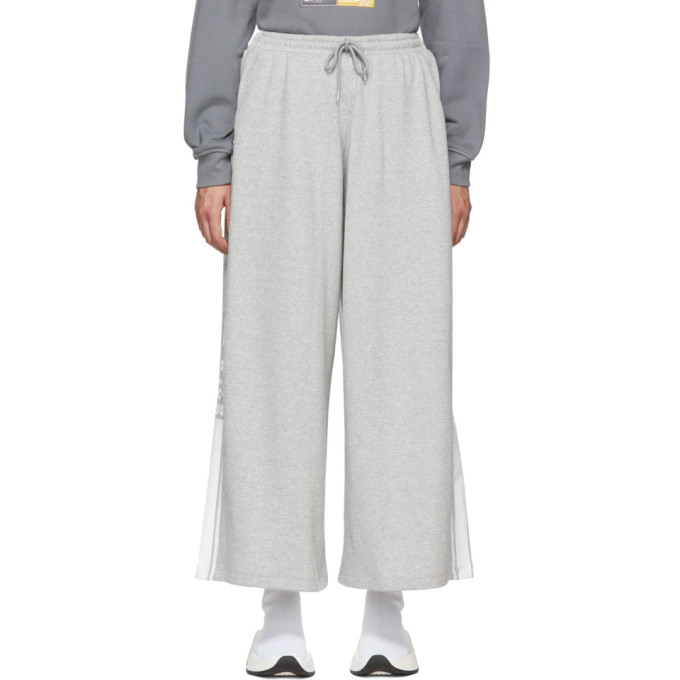 SJYP Grey Stripe Wide Lounge Pants