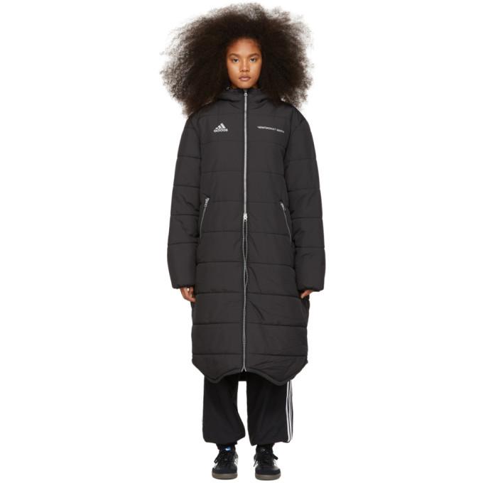 Image of Gosha Rubchinskiy Black adidas Originals Edition Long Puffer Jacket