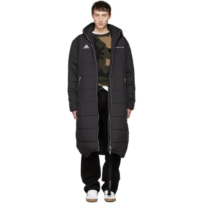 Black Adidas Originals Edition Long Puffer Jacket