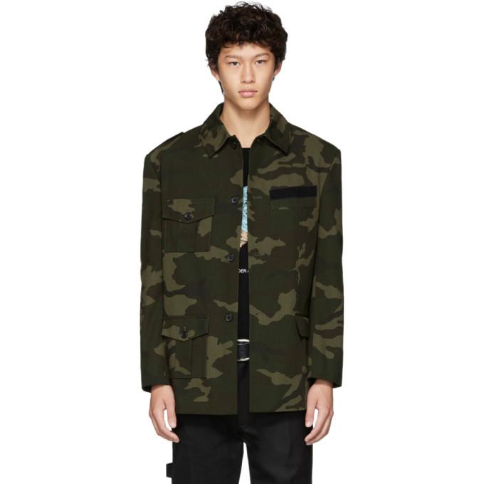 Gosha Rubchinskiy Blouson a motif camouflage vert Hybrid