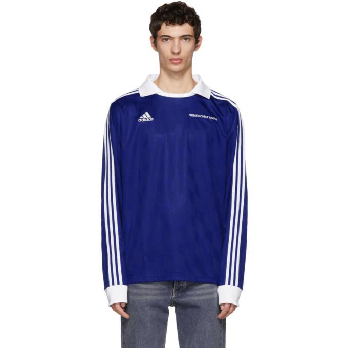Gosha Rubchinskiy adidas Originals Edition ブルー フットボール ポロ