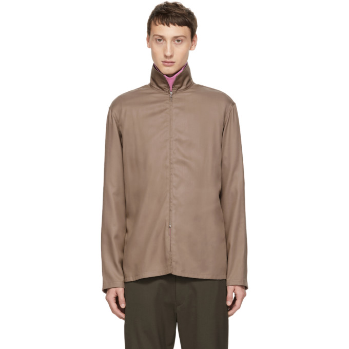 Lemaire Chemise a glissiere brune