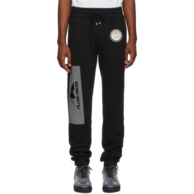 Image of Filling Pieces Black Graphic Lounge Pants