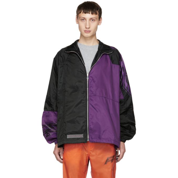 Image of Filling Pieces Black & Purple Panelled Jacket