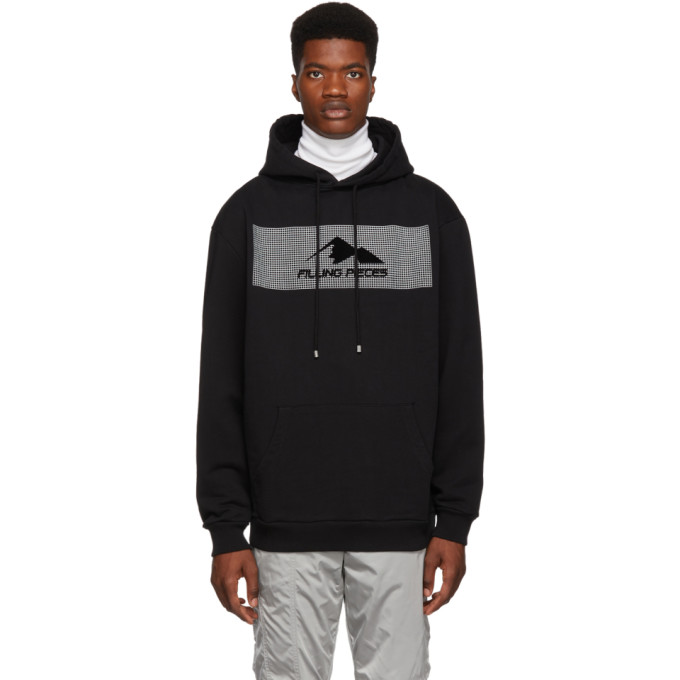 Image of Filling Pieces Black Graphic Hoodie