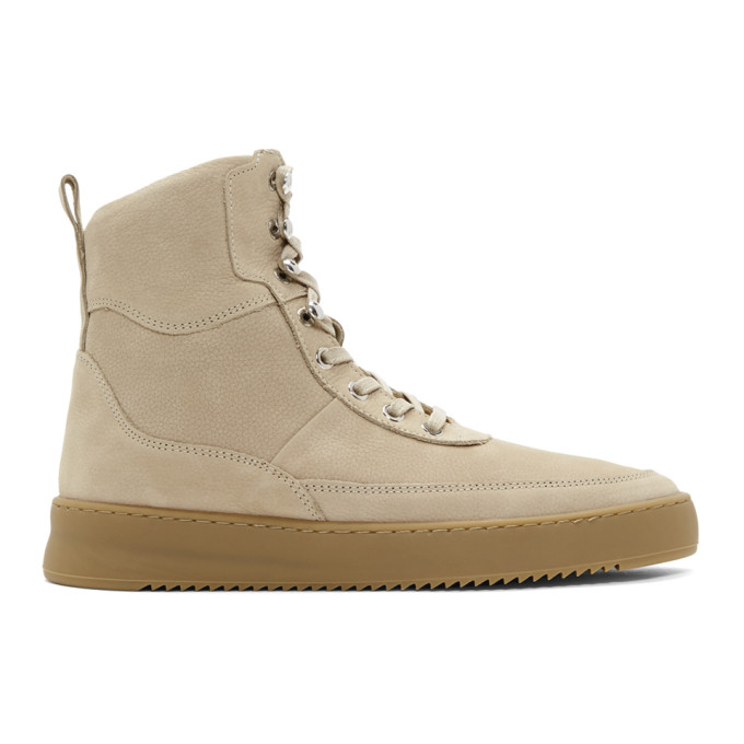Image of Filling Pieces Beige Andes Evora High-Top Sneakers
