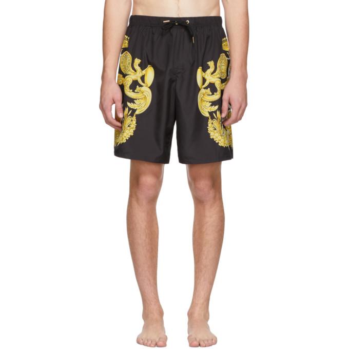 Versace Underwear Maillot de bain noir Barocco Print