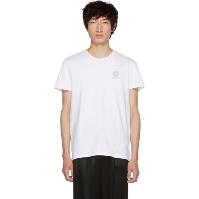 Versace Underwear ホワイト メドゥーサ T シャツ