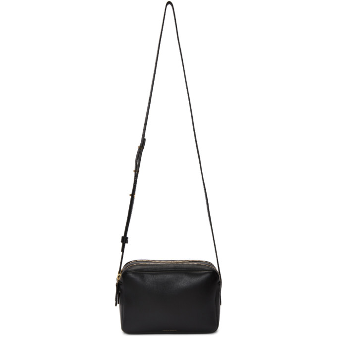 Mansur Gavriel Black Double Zip Crossbody Bag