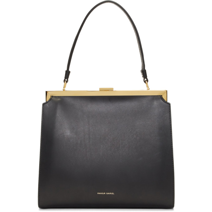 Mansur Gavriel Black Elegant Top Handle Bag