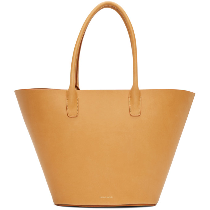Mansur Gavriel Tan Leather Tote