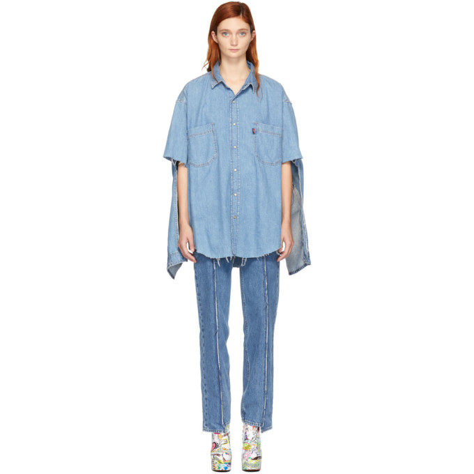 cdf84e9cbb6 Vetements Blue Levis Edition Denim Oversized Shirt