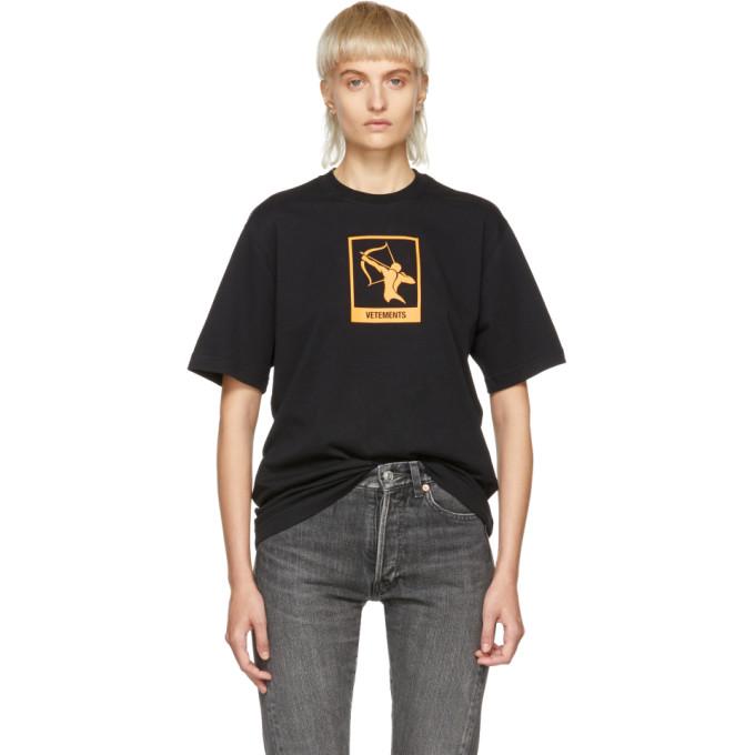 VETEMENTS Horoscope T-Shirt in Black