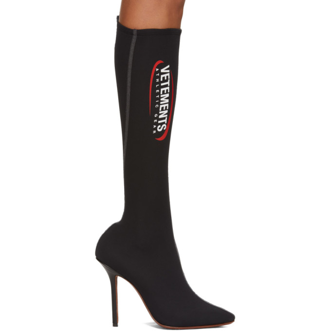 Vetements Black Athletic Sock Pumps
