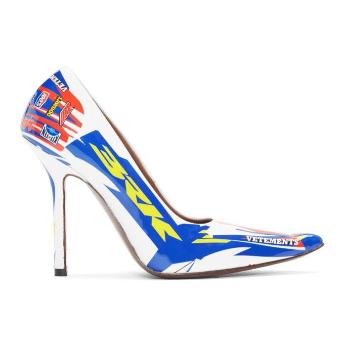 Vetements White Race Heels