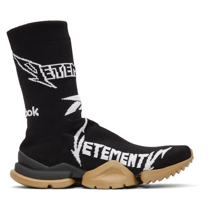 Vetements Black Reebok Classics Edition Metal Sock Sneakers