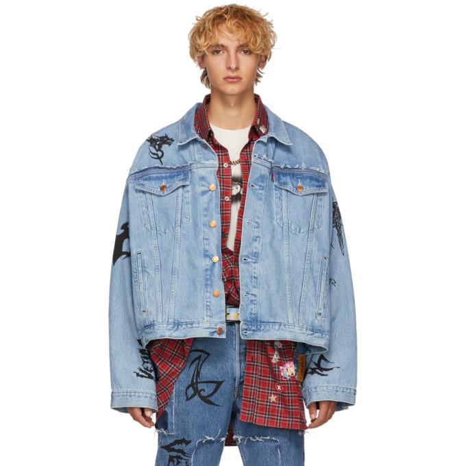 Vetements Levi's Edition ブルー デニム オーバーサイズ トライバル ジャケット