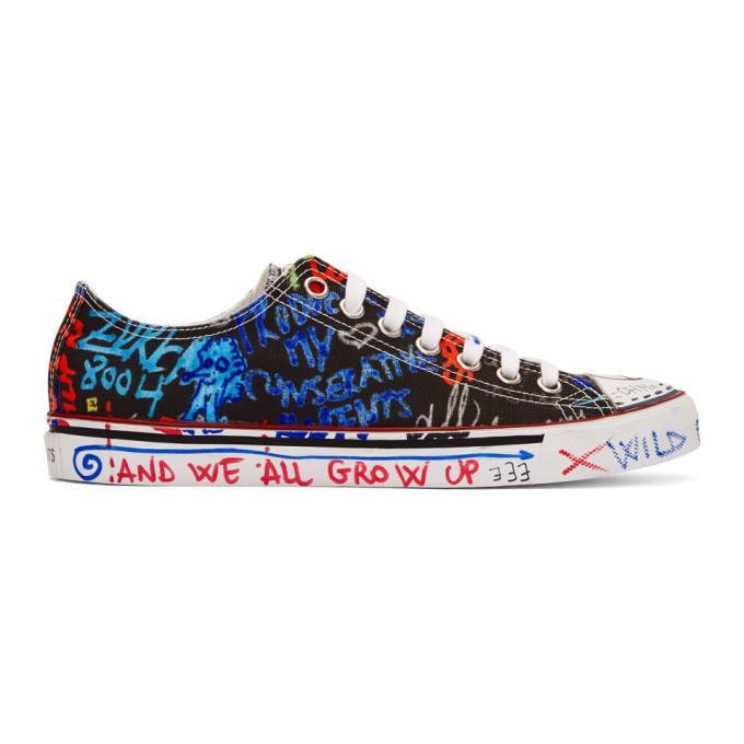 Vetements Black Graffiti Low-Top Sneakers