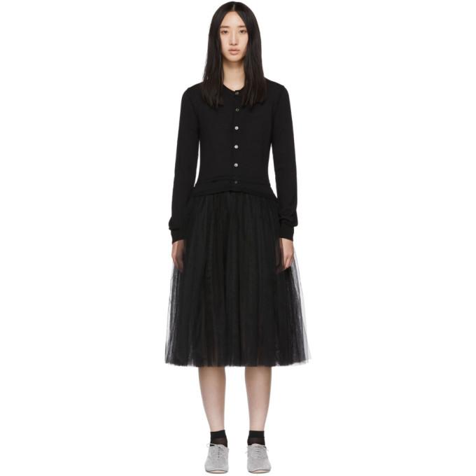 Image of Comme des Garçons Girl Black Tulle Combo Dress
