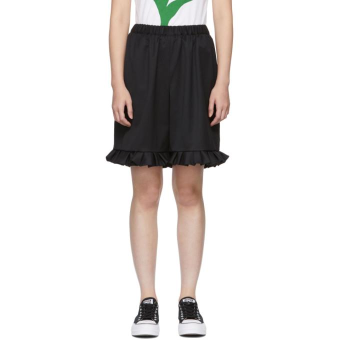 Image of Comme des Garçons Girl Black Ruffled Hem Trousers