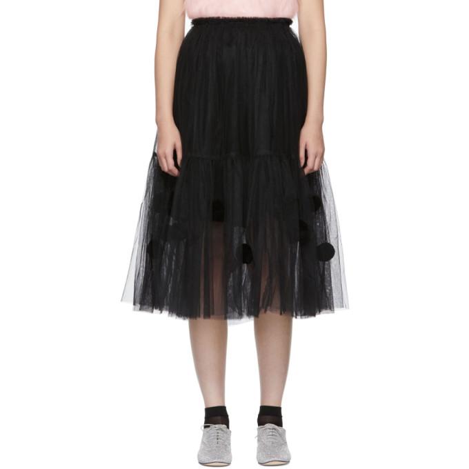 Image of Comme des Garçons Girl Black Tulle Pom Pom Skirt