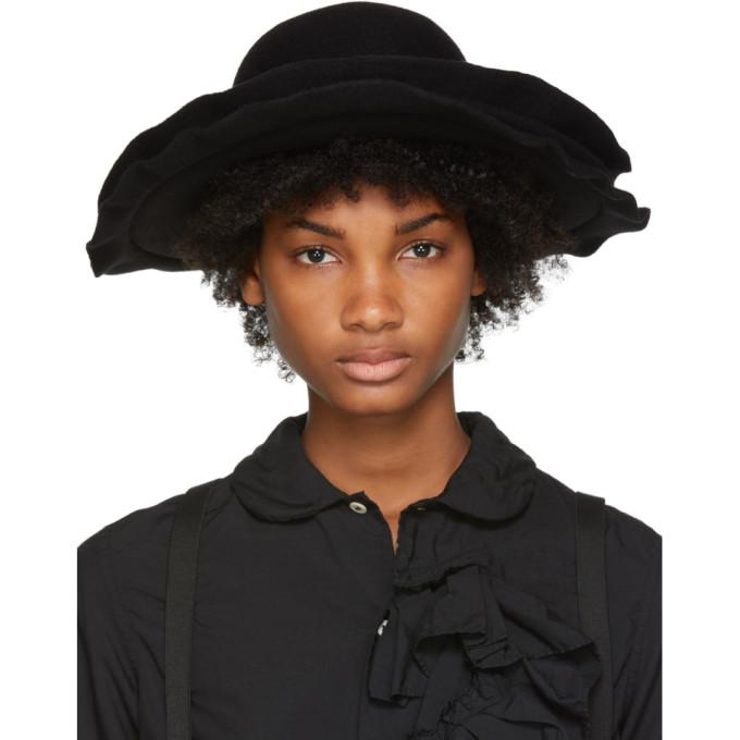 Image of Comme des Garçons Comme des Garçons Black Scha Edition Double Brim Wool Felt Hat