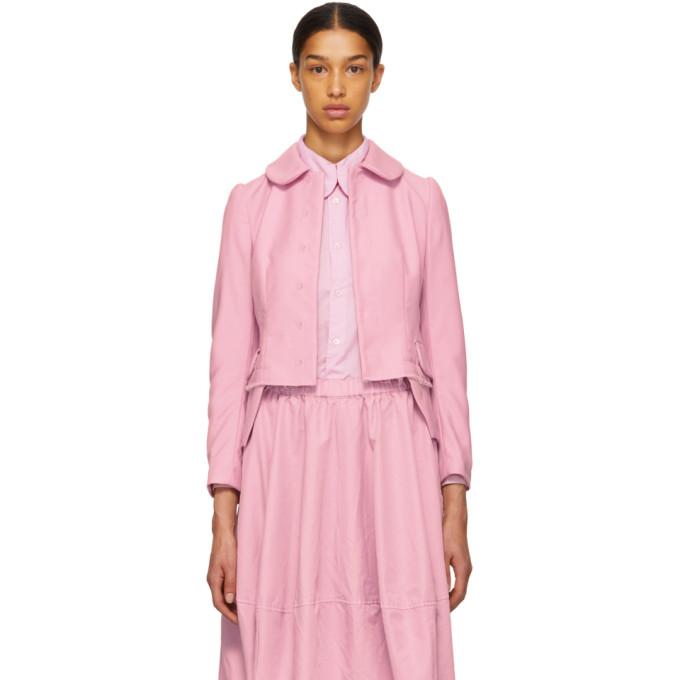 Image of Comme des Garçons Comme des Garçons Pink Round Collar Jacket