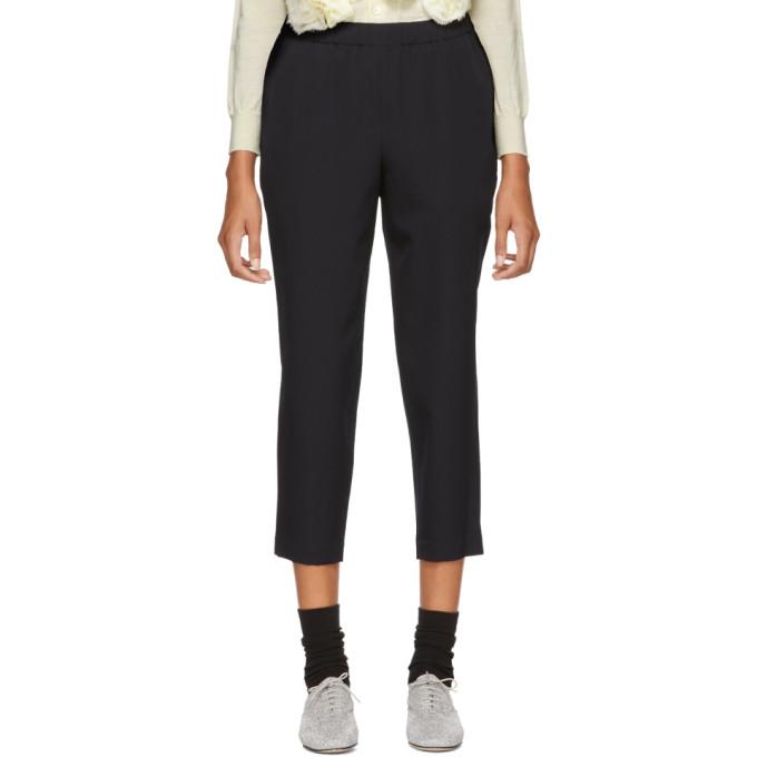 Image of Comme des Garçons Comme des Garçons Navy Cropped Trousers