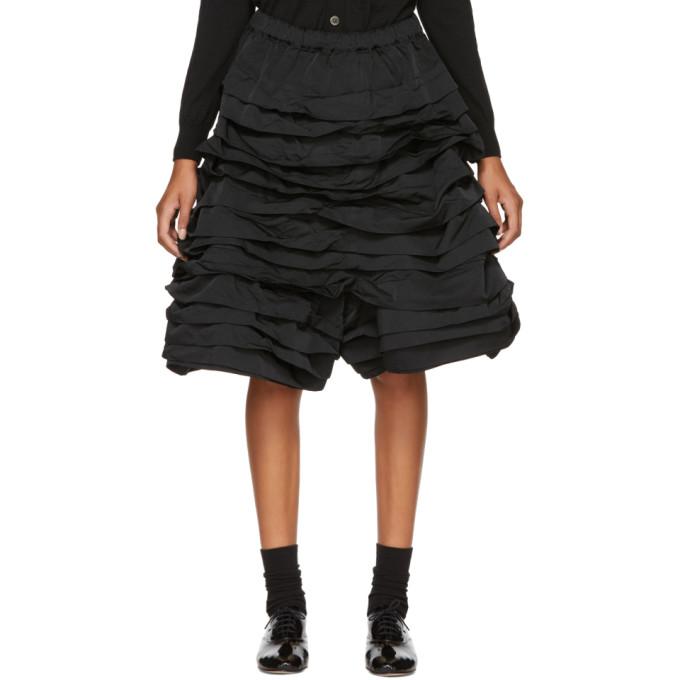 Comme Des Garcons Comme Des Garcons Black Layered Ruffled Shorts, 1 Black