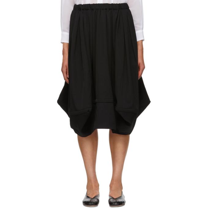 Image of Comme des Garçons Comme des Garçons Black Wool Voluminous Skirt
