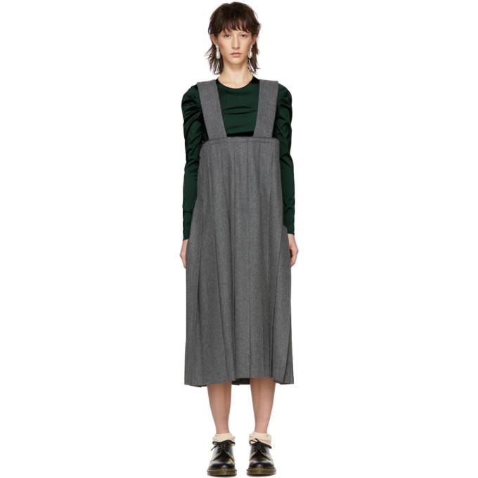 Image of Comme des Garçons Comme des Garçons Grey Wool Suspender Skirt