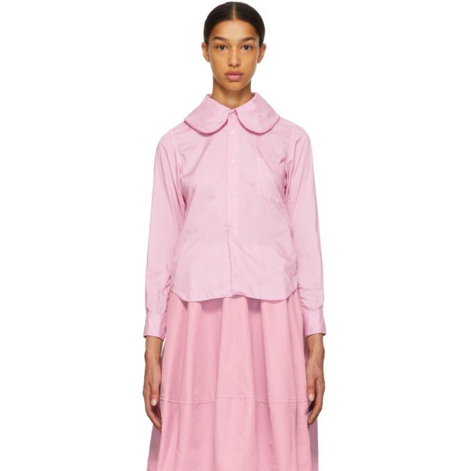 Image of Comme des Garçons Comme des Garçons Pink Round Collar Shirt