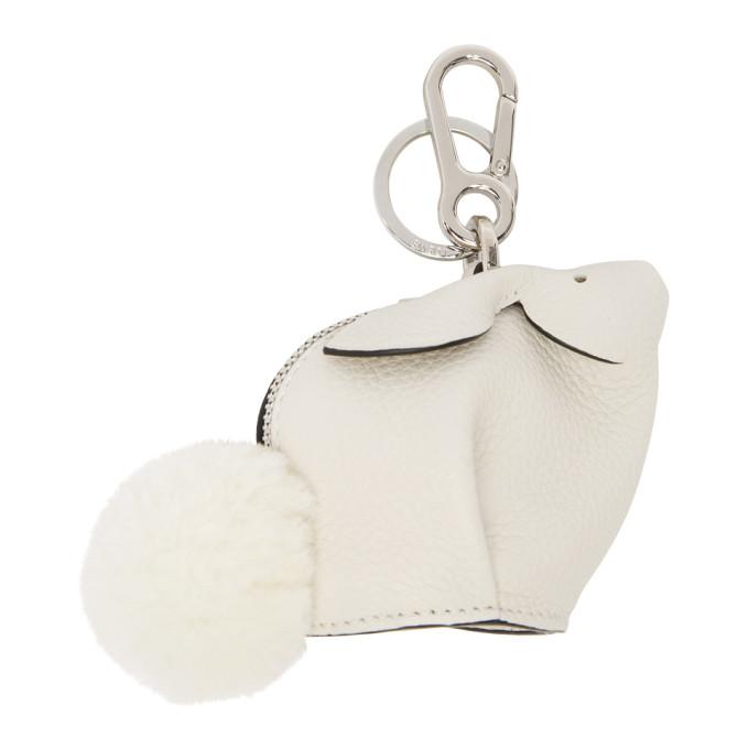 Loewe White Bunny Keychain