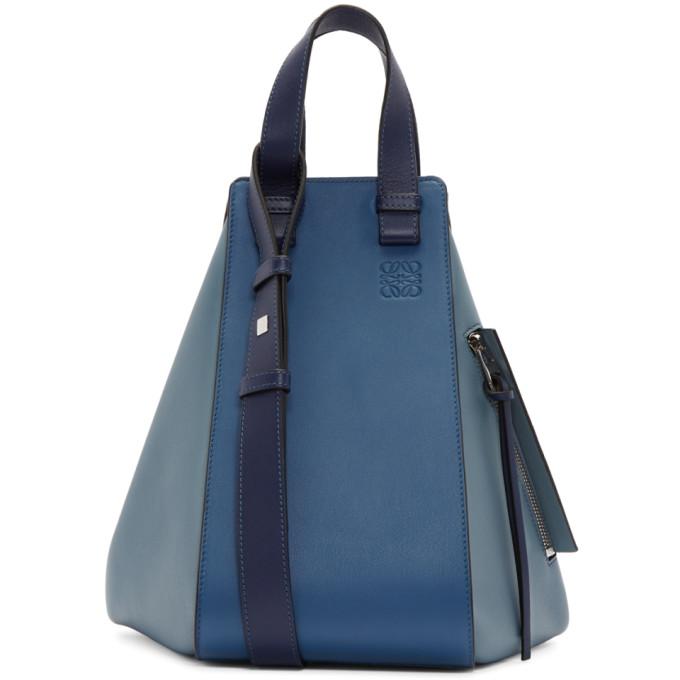 Loewe Blue & Navy Hammock Bag