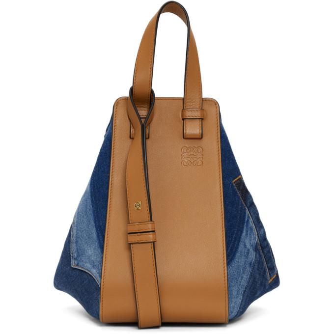 Loewe Blue Denim Small Hammock Bag