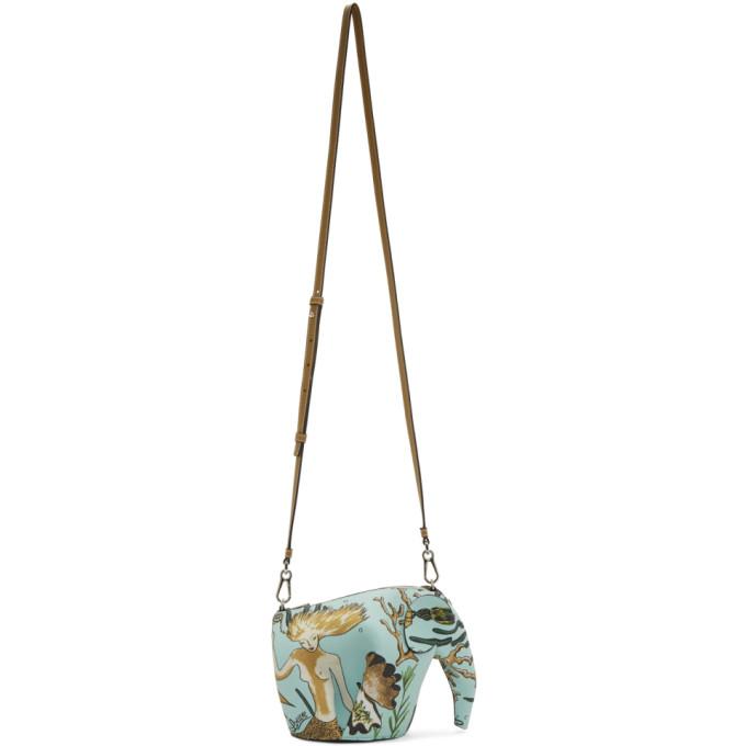 Loewe Blue Paula's Ibiza Edition Mini Elephant Mermaid Bag