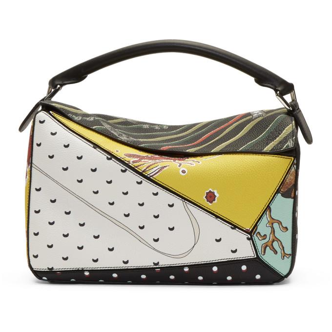 Loewe Multicolor Paula's Ibiza Edition Patchwork Puzzle Bag