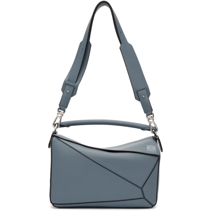 Loewe Blue Medium Puzzle Bag