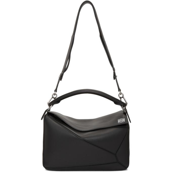 Loewe Black Medium Puzzle Bag