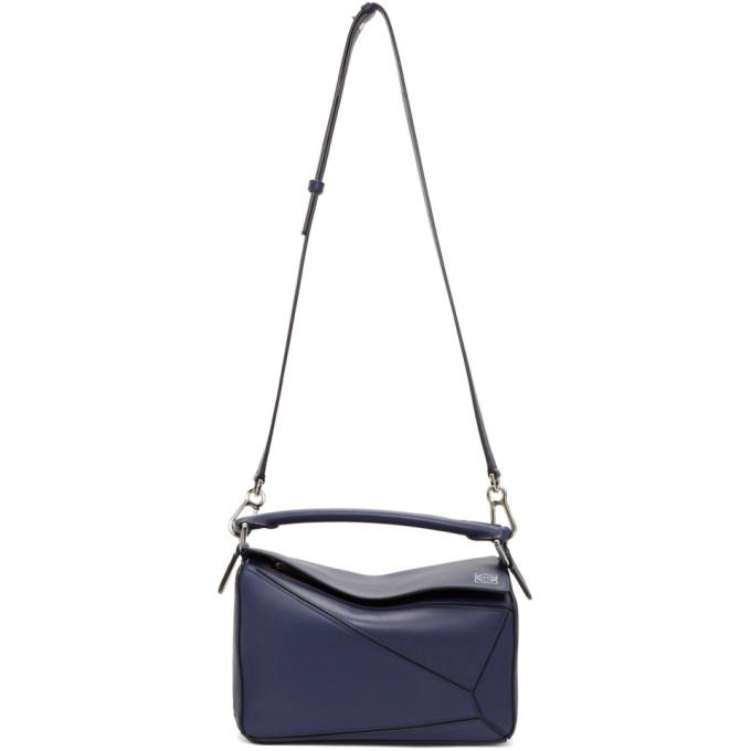 Loewe Navy Puzzle Bag