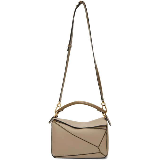 Loewe Brown Small Puzzle Bag