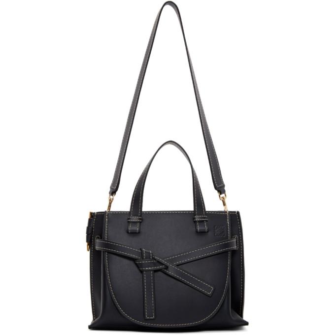 Loewe Navy Small Gate Top Handle Bag