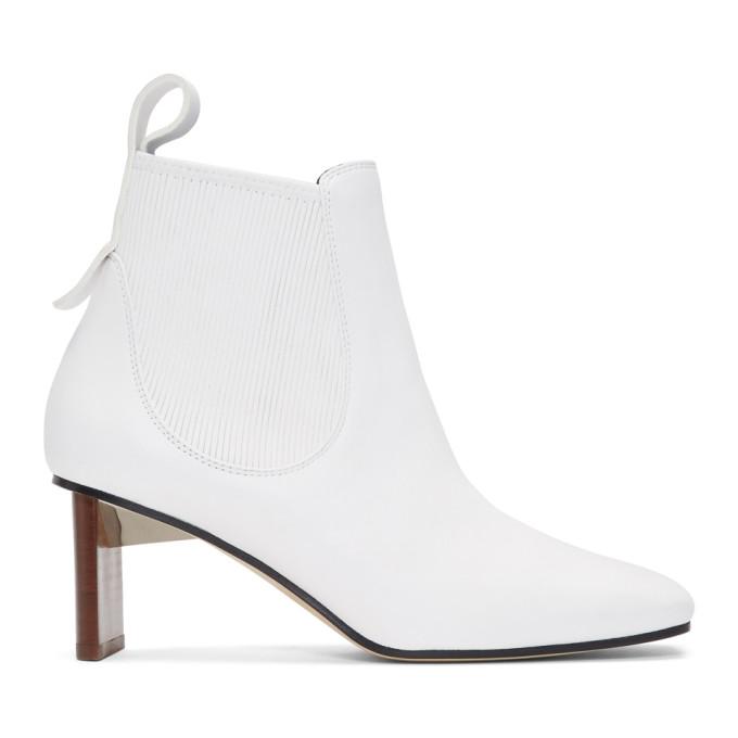 Loewe White Blade Heel Boots