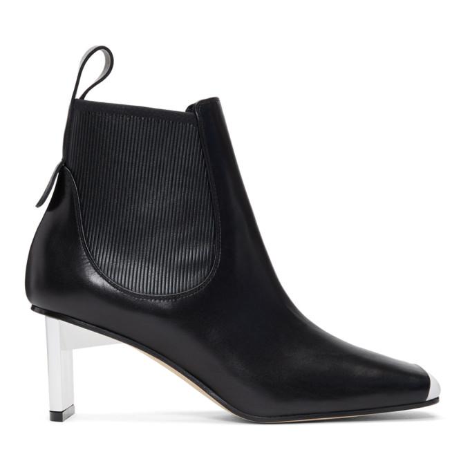 Loewe Black & White Blade Heel Boots