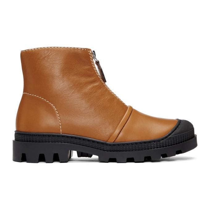 Loewe Tan Zip Boots