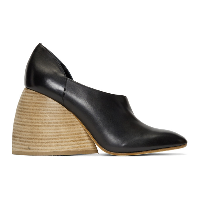 Loewe Black Flex Loafer Heels